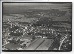 ZZ-4599/ Holzgerlingen Foto seltenes Luftbild ca. 1935 18 x 13 cm