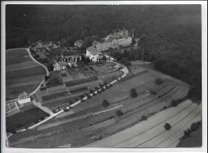 ZZ-4593/ Wilhelmsheim b. Oppenweiler Foto seltenes Luftbild ca.1936 18 x 13 cm