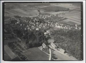 ZZ-4923/ Hochdorf Landkrs. Esslingen Foto seltenes Luftbild ca.1938 18 x 13