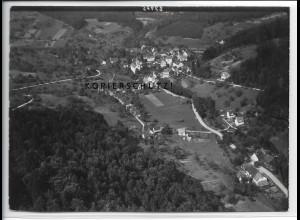 ZZ-4588/ Spiegelberg Foto seltenes Luftbild 1937 18 x 13 cm