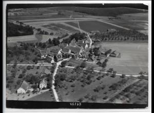 ZZ-4583/ Pulverdingen b. Vaihingen Foto seltenes Luftbild 1934 18 x 13 cm