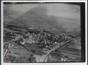ZZ-4575/ Ditzingen bei Stuttgart Foto seltenes Luftbild ca.1936 18 x 13 cm
