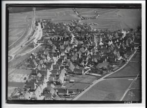 ZZ-4574/ Ehningen bei Böblingen Foto seltenes Luftbild ca.1936 18 x 13 cm