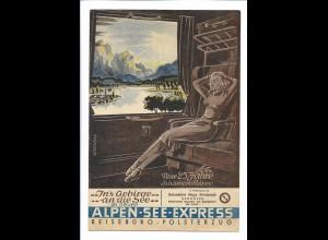 C4249/ Alpen-See-Expreß Eisenbahn 25 Jahre Scharnow-Reisen 1951 Faltblatt