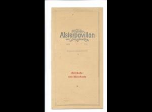 C4236/ Speisekarte Hamburg 150 Jahre Alsterpavillon 1799 . 1949