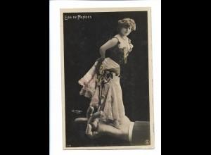 V1812/ Elsa de Mendes - Fotomontage Reutlinger Foto AK 1908 Hand