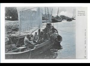 V1628/ Hamburg Elbfischer 1904 AK Verlag: Trenkler