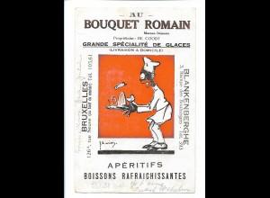 V1963/ Bouquet Romain Glaces Bruxxeles, Blankenberghe AK farbiger Koch