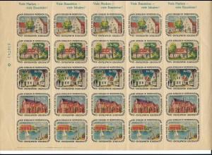 C4285/ Baustein für Schulen in Nordschleswig Heimatbund Marken 1952