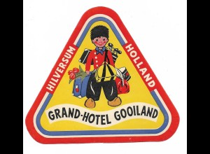 C4259/ Alter Kofferaufkleber Grand-Hotel Gooiland, Hilversum Holland