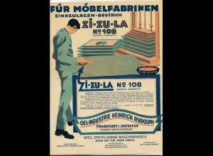 C4257/ Zi-Zu-La für Möbelfabriken Oel-Industrie H. Rudolph, Frankfurt Reklame