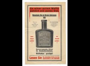 C4256/ Waffenöl nach Oberförster Max Vorreith für Jäger Werbung Reklame 1927