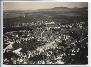 ZZ-4741/ Waiblingen Foto seltenes Luftbild 1935 18 x 13 cm
