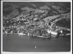 ZZ-4744/ Tegernsee Foto seltenes Luftbild 1938 18 x 13 cm