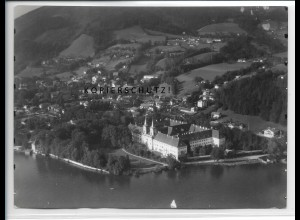 ZZ-4745/ Tegernsee Foto seltenes Luftbild 1938 18 x 13 cm