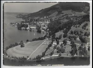 ZZ-4746/ Tegernsee Foto seltenes Luftbild 1938 18 x 13 cm