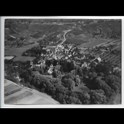 ZZ-4785/ Weiler b. Obersulm Foto seltenes Luftbild 1935 18 x 13 cm