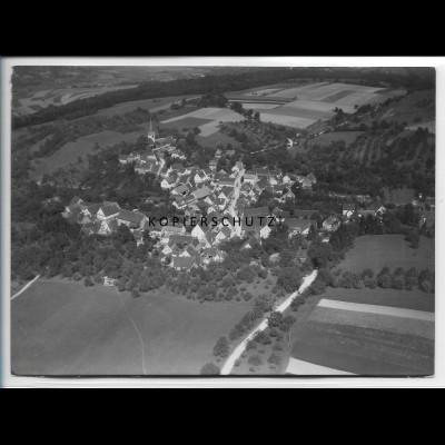 ZZ-4788/ Baumerlenbach - Öhringen Foto seltenes Luftbild 1935 18 x 13 cm