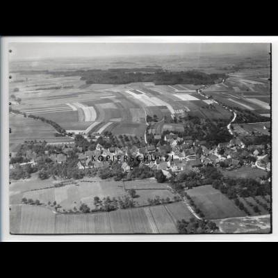 ZZ-4793/ Hausen am Bach bei Rot am See Foto seltenes Luftbild 1938 18 x 13 cm