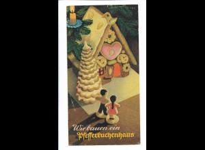 C4280/ Mondamin Pudding, Pulver Falblatt Werbung Pfefferkuchenhaus 50/60er