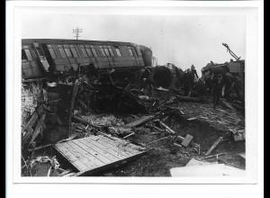 C4273/ Witham Essex 7.3.1950 Eisenbahn-Katastrophe Foto 18 x 13 Großbritannien