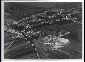 ZZ-4664/ Steinheim am Albuch Foto seltenes Luftbild 1936 18 x 13 cm