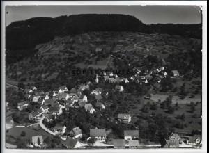 ZZ-4640/ Streichen bei Balingen Foto seltenes Luftbild ca. 1936 18 x 13 cm