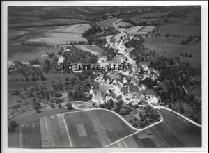 ZZ-4638/ Zimmern bei Bisingen Foto seltenes Luftbild 1938 18 x 13 cm