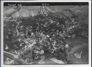 ZZ-4637/ Bisingen Foto seltenes Luftbild 1938 18 x 13 cm