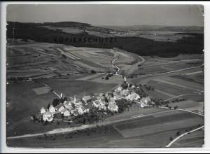 ZZ-5210/ Steingebronn b. Gomadingen Foto seltenes Luftbild 18 x 13 cm 1935