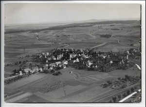 ZZ-4617/ Hayingen Foto seltenes Luftbild 1935 18 x 13 cm