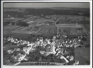 ZZ-4616/ Hayingen Foto seltenes Luftbild 1935 18 x 13 cm