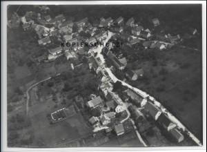 ZZ-4615/ Sickingen b. Hechingen Foto seltenes Luftbild ca.1938 18 x 13 cm