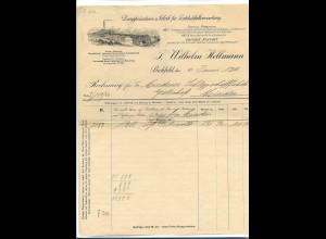 C3546/ Rechnung Bielefeld Wilhelm Hellmann Dampfwäscherei 1912