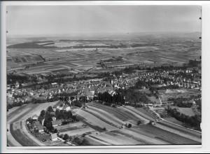 ZZ-4813/ Großgartach - Leingarten Foto seltenes Luftbild ca.1935 18 x 13 cm