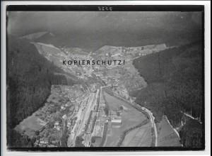 ZZ-4818/ Höfen an der Enz Foto seltenes Luftbild ca.1935 18 x 13 cm