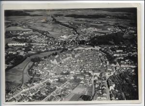 ZZ-4820/ Ansbach Foto seltenes Luftbild ca.1935 18 x 13 cm