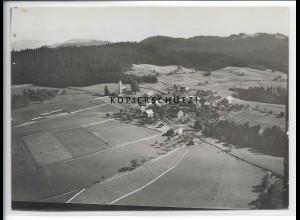 ZZ-5247/ Möggers bei Scheidegg Foto seltenes Luftbild 18 x 13 cm 1935