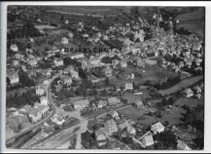 ZZ-4914/ Bad Brückenau Foto seltenes Luftbild 1939 18 x 13 cm