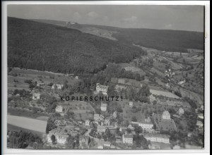 ZZ-4911/ Bad Brückenau Foto seltenes Luftbild 1939 18 x 13 cm