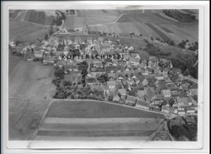 ZZ-4902/ Althausen b. Königshofen Foto seltenes Luftbild 1937 18 x 13 cm