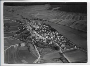 ZZ-4901/ Eyershausen b. Königshofen Foto seltenes Luftbild ca.1935 18 x 13 cm