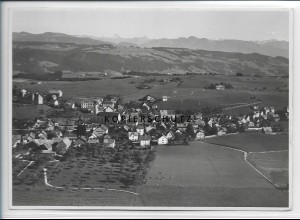 ZZ-4694/ Scheidegg Foto seltenes Luftbild 1935 18 x 13 cm