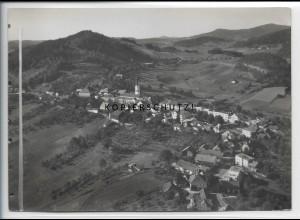 ZZ-4695/ Schönberg bayer. Wald Foto seltenes Luftbild 1936 18 x 13 cm