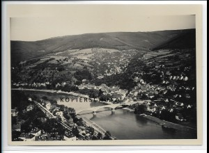 ZZ-4704/ Ziegelhausen b. Heidelberg Foto seltenes Luftbild ca.1935 18 x 13 cm