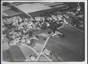 ZZ-4728/ Oberneuching Neuching Foto seltenes Luftbild 1938 18 x 13 cm