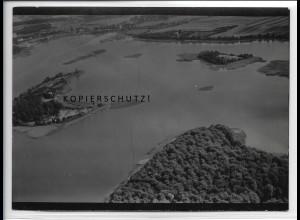 ZZ-5144/ Inseln im gr. Lychensee Lychen Foto seltenes Luftbild 18 x 13 cm 1939