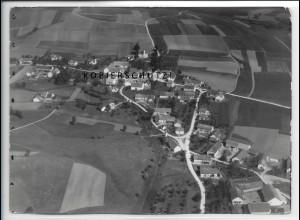 ZZ-4852/ Palzing bei Zolling Foto seltenes Luftbild 1937 18 x 13 cm