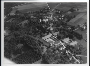 ZZ-5012/ Berghofen bei Eching Foto seltenes Luftbild ca.1938 18 x 13 cm
