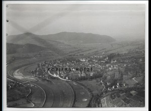 ZZ-5008/ Gengenbach Foto seltenes Luftbild ca.1938 18 x 13 cm